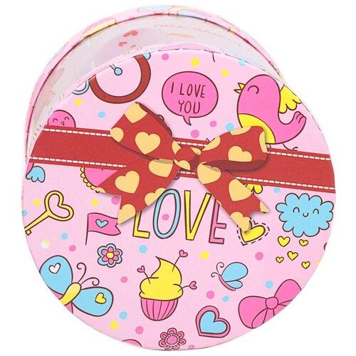 Коробка подарочная Yiwu Zhousima Crafts со светодиодом 15 х 15 х 12 см 2948000 розовый