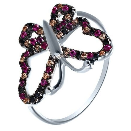 JV Кольцо с фианитами из серебра SS-B0842RCB-KO-001-WG, размер 17 jv кольцо с фианитами из серебра ss b0842rcb ko 001 wg размер 17 5