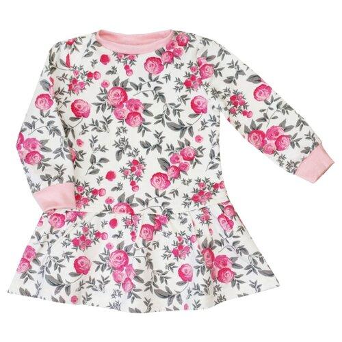 Платье KotMarKot размер 110, белый/розовый