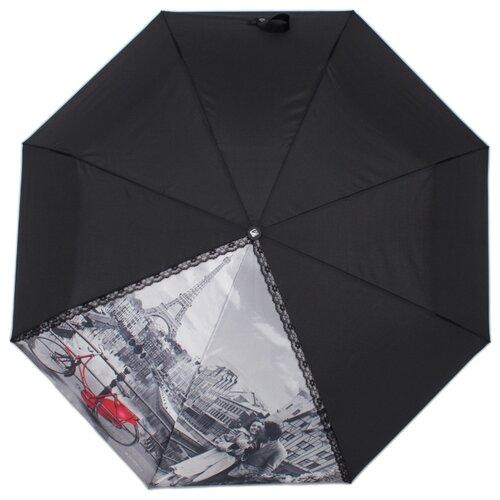 Зонт автомат FLIORAJ 20101 FJ черный рюкзак женский flioraj цвет черный 00058058
