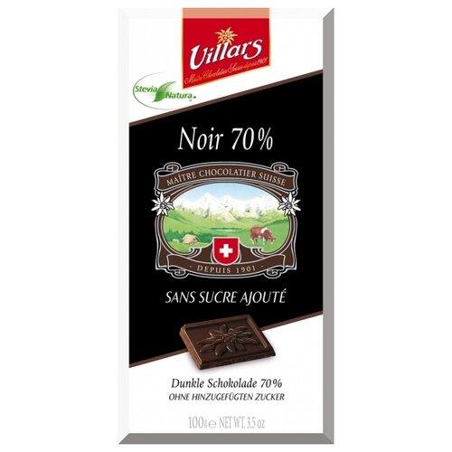 Шоколад Villars Noir 70% горький без сахара, 100 г