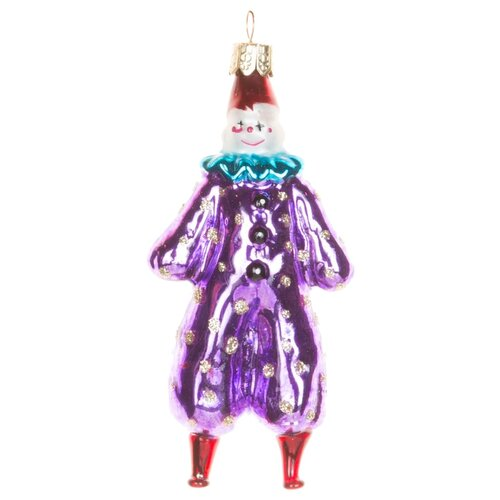 Набор елочных игрушек KARLSBACH Клоун 06829, фиолетовый