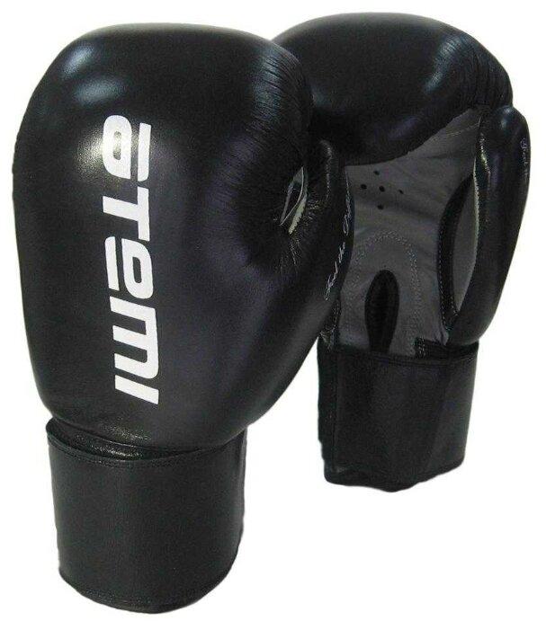 Боксерские перчатки ATEMI LTB19009 черный/серый 8 oz