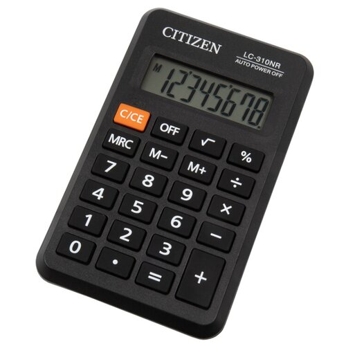 Калькулятор карманный CITIZEN LC-310NR черный