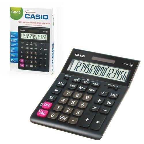 Калькулятор бухгалтерский CASIO GR-16 черный