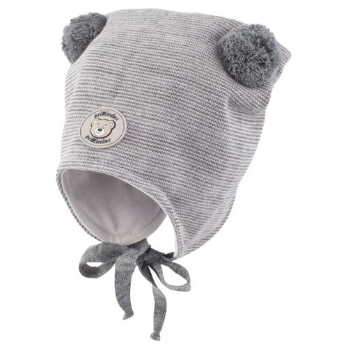 Купить Шапка Prikinder размер 46-48, серый/розовый, Головные уборы