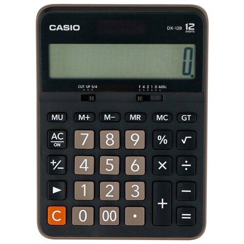 Калькулятор бухгалтерский CASIO DX-12B-W черный