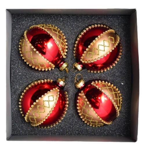 Набор шаров KARLSBACH 06863, красный/золотистый