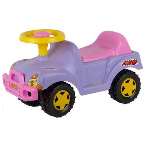 Купить Каталка-толокар СТРОМ Автомобиль (У431) сиреневый, Каталки и качалки