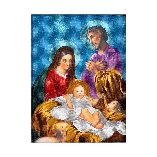 Кроше Набор для вышивания бисером Рождество Христово 19 x 26 см (В-189)