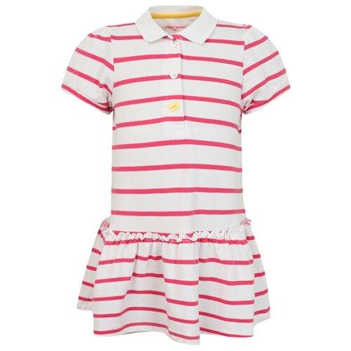 Платье Original Marines размер 62-68, полоска/белый/розовый