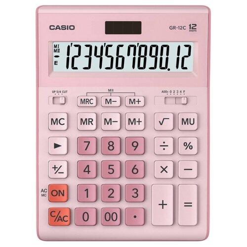 Калькулятор бухгалтерский CASIO GR-12С розовый