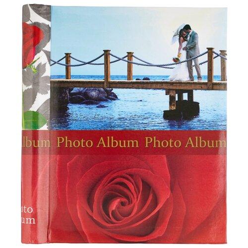 Фотоальбом BRAUBERG Чувства (390685), 120 фото, для формата 18 х 24, красный/голубой