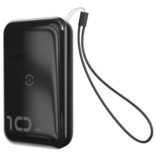Аккумулятор Baseus Mini S Bracket 10W Wireless Charger 10000mAh, черный аккумулятор baseus mini s type c cable 10000mah черный