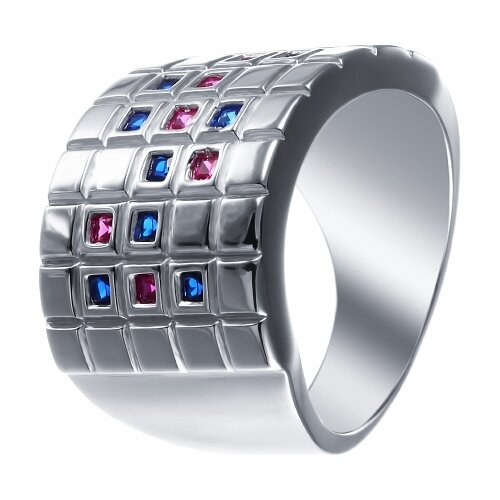 JV Кольцо с фианитами из серебра SY-356146-R-KO-002-WG, размер 16.5 jv кольцо с стеклом и фианитами из серебра sy 356989 r ko 002 wg размер 16 5