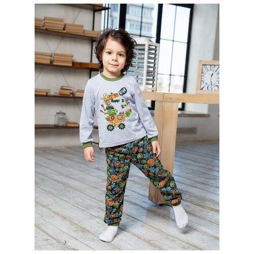 Купить Пижама Веселый Малыш размер 134, разноцветный, Домашняя одежда