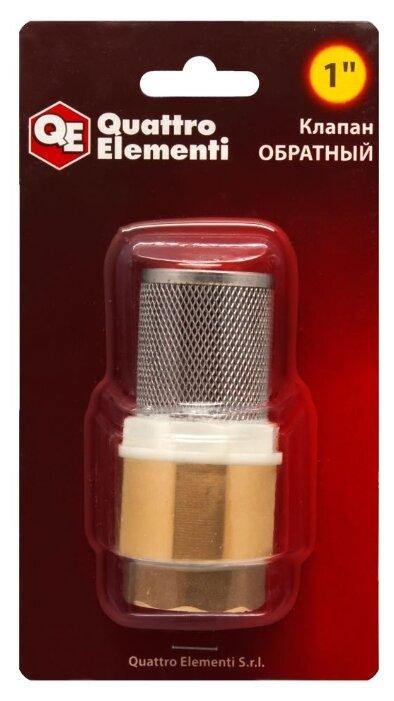 Обратный клапан одностворчатый Quattro Elementi 771-800 муфтовый (ВР/НР), латунь с фильтром