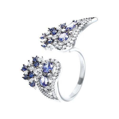 Фото - JV Кольцо с фианитами из серебра SR-B02460BC-KO-001-WG, размер 17 jv кольцо с фианитами из серебра sr b02197c ko 001 wg размер 17 5