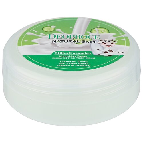 Фото - Крем для тела Deoproce Natural Skin Milk & Cucumber Nourishing Cream, банка, 100 г крем для тела deoproce natural skin olive nourishing cream 100 г
