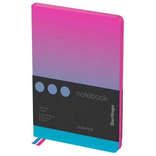 Купить Ежедневник Berlingo Radiance недатированный, искусственная кожа, А6, 80 листов, розовый/голубой, Ежедневники, записные книжки