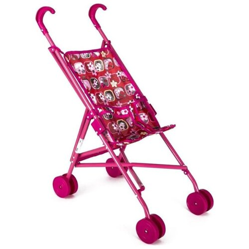 Прогулочная коляска Melobo / Melogo Трость (9302D) красный/розовый/бабочки коляска трансформер melobo melogo 9336 розовый цветочки