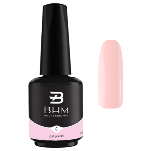 Фото - Гель-лак для ногтей BHM Professional Gel Polish, 7 мл, №008 Always in trend гель лак для ногтей claresa gel polish 5 мл оттенок purple 610