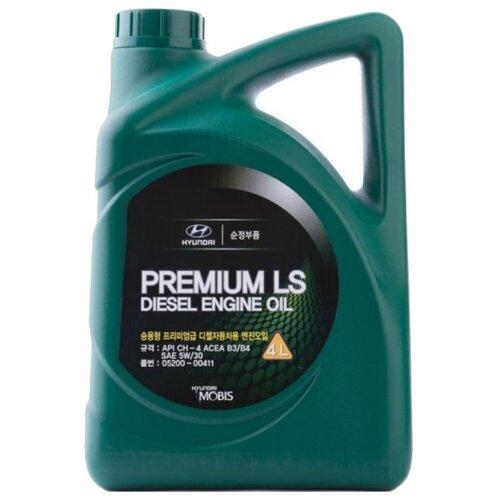 Полусинтетическое моторное масло MOBIS Premium LS Diesel 5W-30 4 л минеральное моторное масло mobis classic gold diesel 10w 30 4 л
