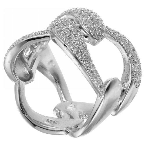 JV Кольцо с фианитами из серебра R-BS5182-001-WG, размер 17 jv кольцо с фианитами из серебра r25193 r 001 wg размер 17