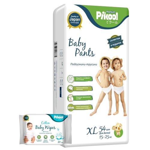 Купить Pikool трусики Premium XL (15-25 кг) 54 шт. + влажные салфетки Premium 20 шт., Подгузники