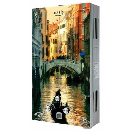 Проточный газовый водонагреватель Oasis Glass 20TG, Венеция накопительный водонагреватель oasis oasis 10 kn