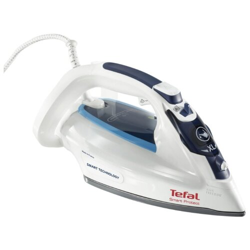 Утюг Tefal FV4980 Smart Protect синий/голубой/белый