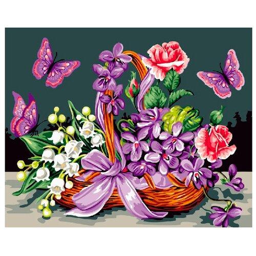 Купить ВанГогВоМне Картина по номерам Цветы в корзинке , 40х50 (ZX 20792), Картины по номерам и контурам