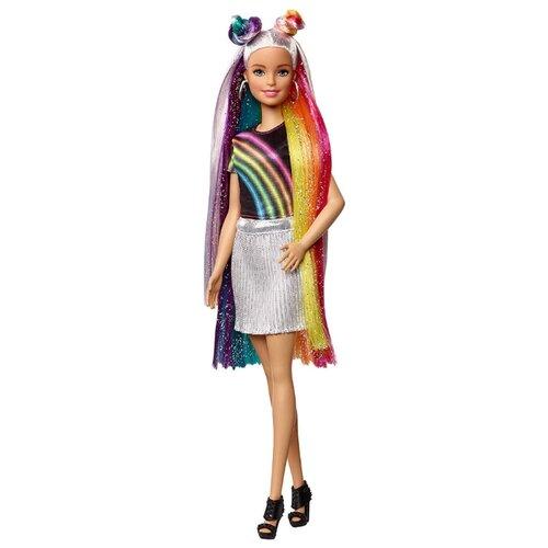 Купить Кукла Barbie с радужной мерцающей прической, FXN96, Куклы и пупсы