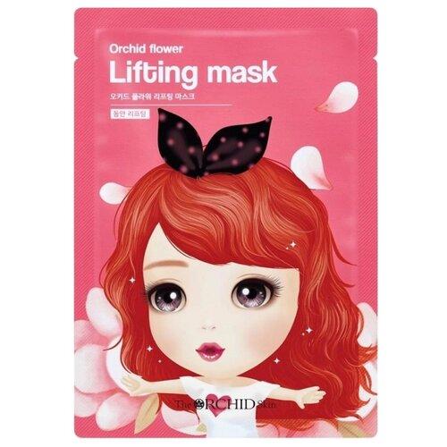 The Orchid Skin Тканевая маска с лифтинг-эффектом Orchid Flower Lifting Mask, 25 г маскапатч с лифтинг эффектом triple fit lifting patch 20 г secret key mask pack