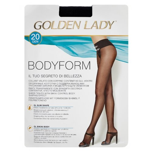 Колготки Golden Lady Bodyform 20 den, размер 4-L, nero (черный) колготки golden lady bodyform 20 den размер 4 l nero черный