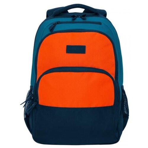 Рюкзак Grizzly RU-924-2/1 17 (синий/оранжевый) рюкзак городской grizzly цвет серый 25 л ru 614 1 4