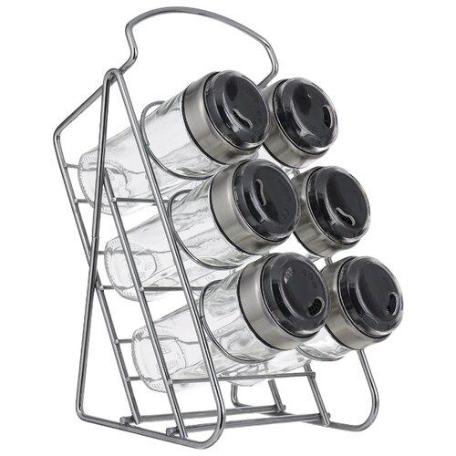Nadoba набор для специй на наклонной подставке Petra прозрачный/серебристый