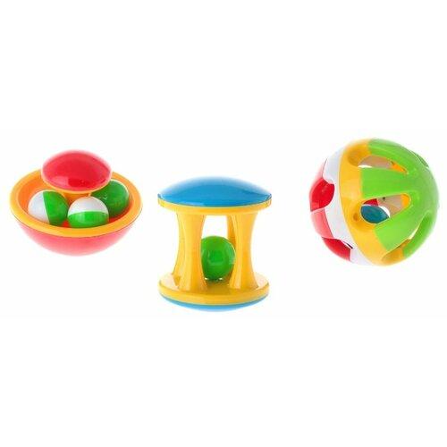 Купить Набор Stellar Подарочный 01517 желтый/красный/зеленый, Погремушки и прорезыватели