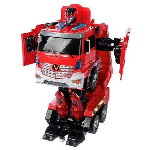 Купить Робот-трансформер Jia Qi Troopers Velocity Пожарная машина JQ6608 красный, Роботы и трансформеры