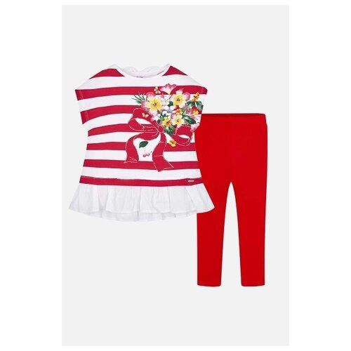 Комплект одежды Mayoral размер 110, красный/белый комплект одежды mayoral размер 110 белый зеленый