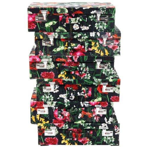 """KARE Design Комод высокий Suitcase, коллекция """"Чемодан"""" 52*84*31, Полиэстер, МДФ, Сталь, Мультиколор"""