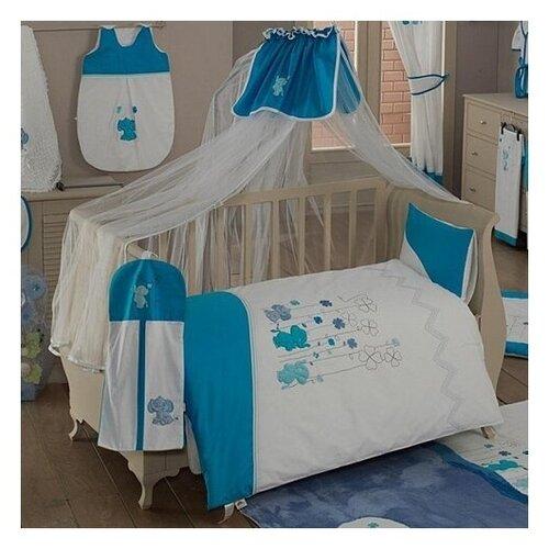 Купить Комплект из 6 предметов серии Elephant (Blue), Kidboo, Постельное белье и комплекты