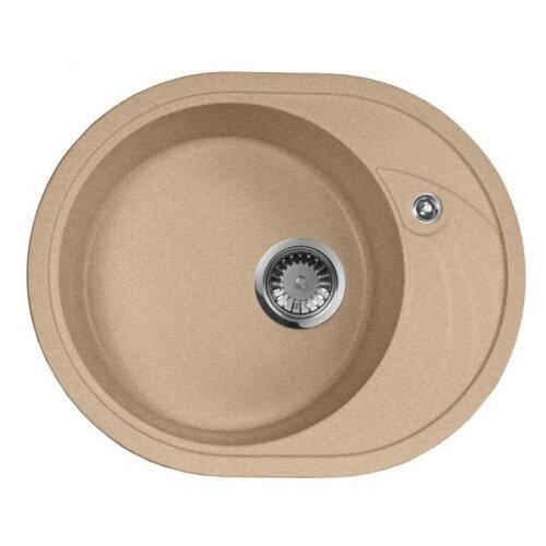 цена на Врезная кухонная мойка 57 см А-Гранит M-18L M-18L(302) песочный
