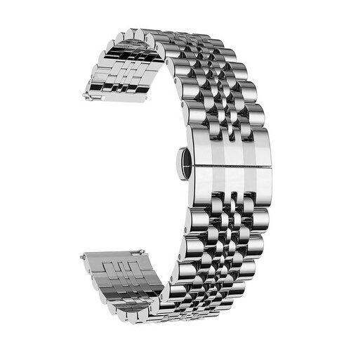 Lyambda Универсальный ремешок из нержавеющей стали Castor 20 mm серебристый