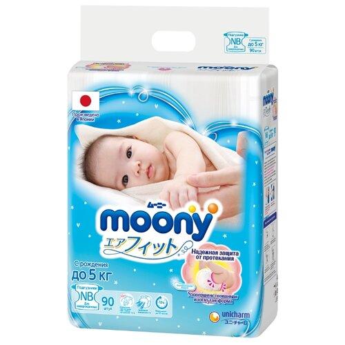 Купить Moony подгузники New NB (0-5 кг) 90 шт., Подгузники
