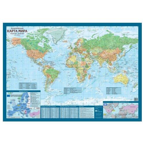 Геоцентр Карта Мира политическая (МИР69АГТ)