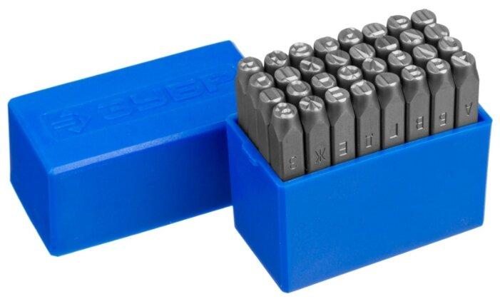 Клейма штамповочные ЗУБР высота буквы 6 мм, Cr-V сталь 21503-06_z01 Профессионал