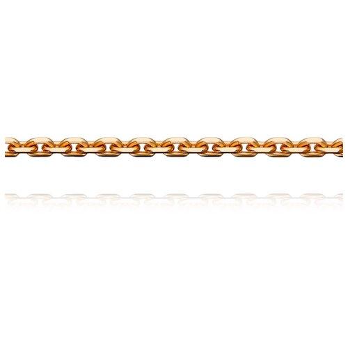 АДАМАС Цепь из золота плетения Якорь одинарный ЦЯ140СА4-А51, 50 см, 3 г