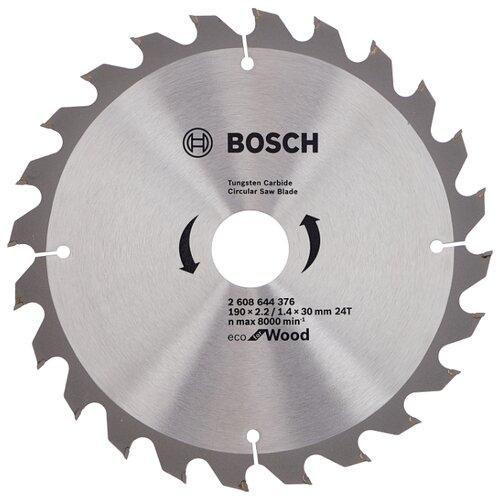 Пильный диск BOSCH Eco Wood 2608644376 190х30 мм диск пильный bosch eco wood 230 ммx30 мм 48зуб 2608644382