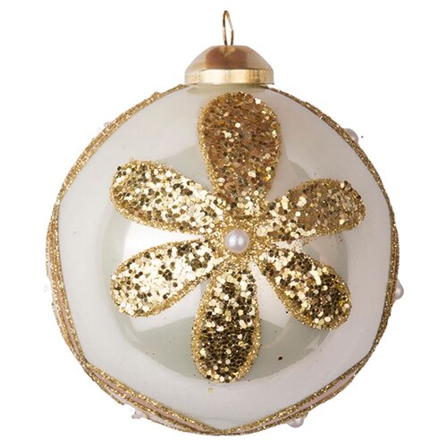 Набор шаров KARLSBACH 06918, бежевый/золотой, 6 шт.
